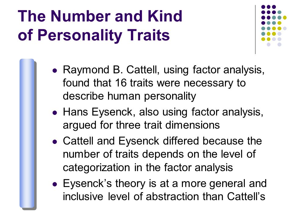 The Number and Kind of Personality Traits