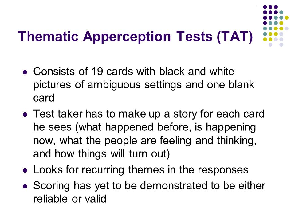 Thematic Apperception Tests (TAT)