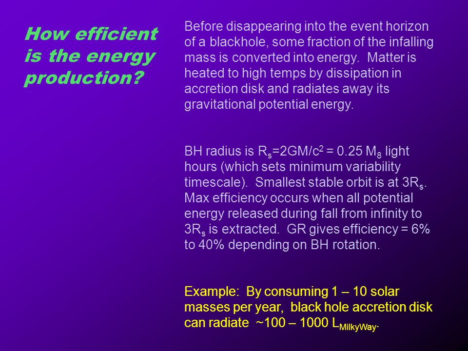 How efficient is the energy production