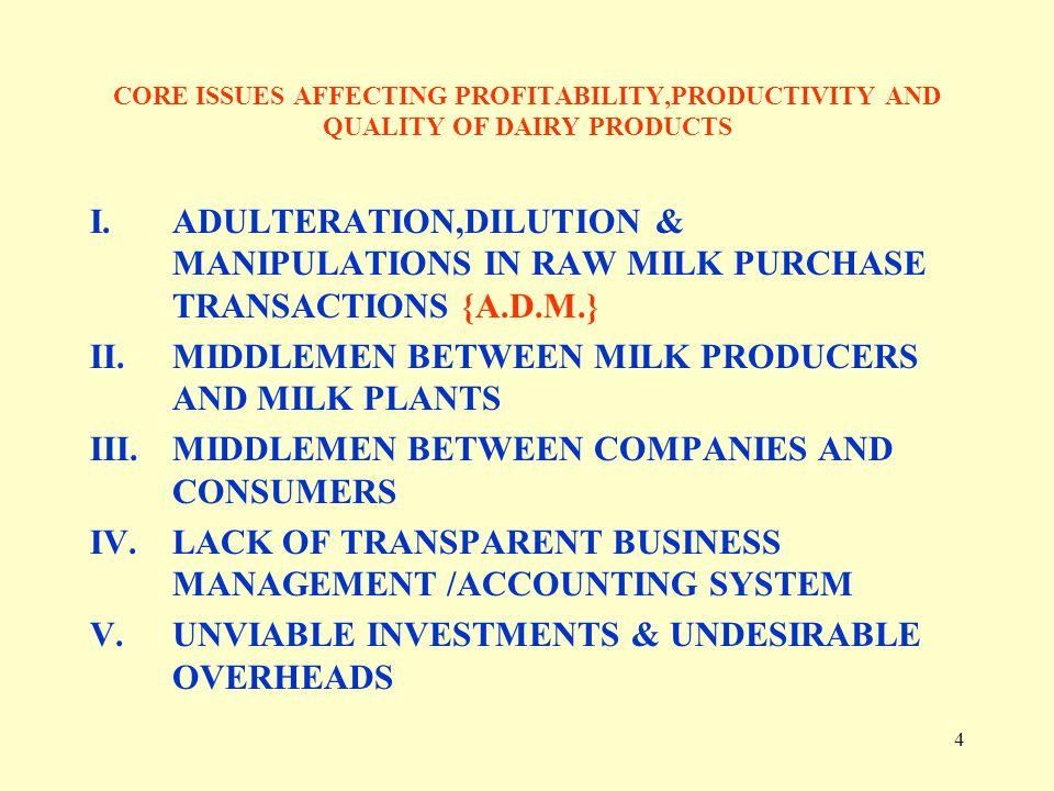 MIDDLEMEN BETWEEN MILK PRODUCERS AND MILK PLANTS