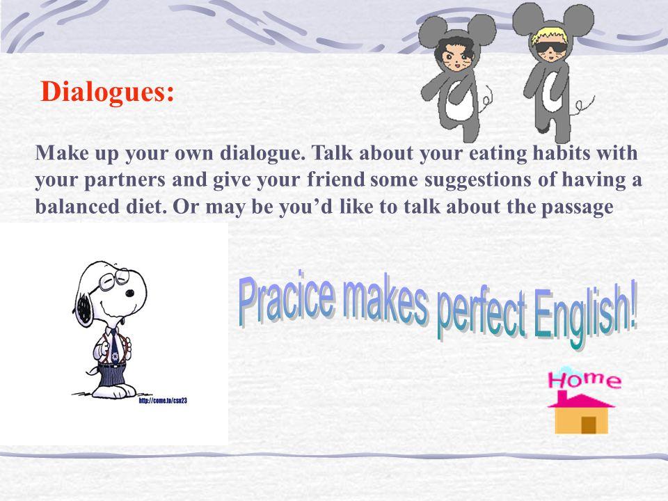 Pracice makes perfect English!