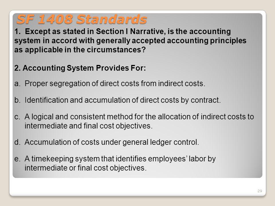 SF 1408 Standards