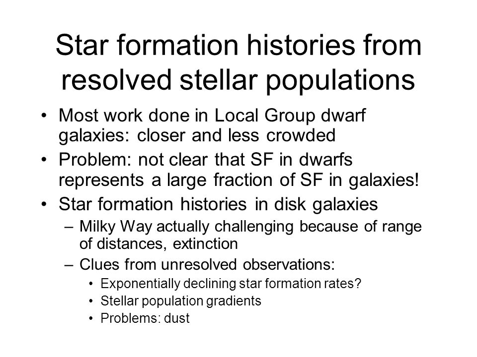 Star formation histories from resolved stellar populations