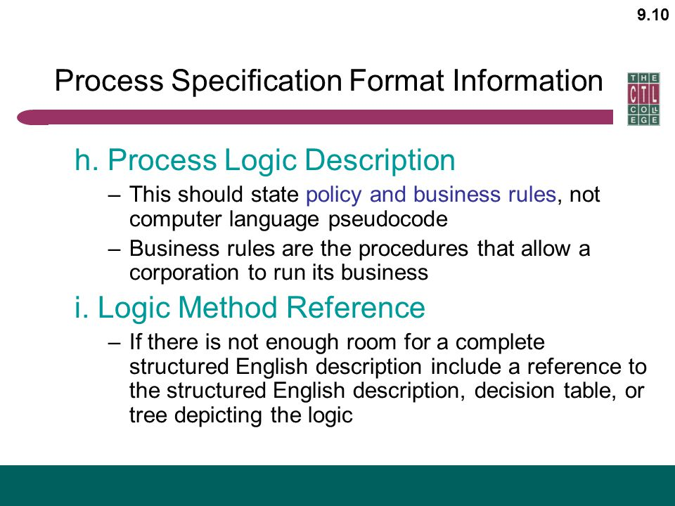 Process Specification Format Information