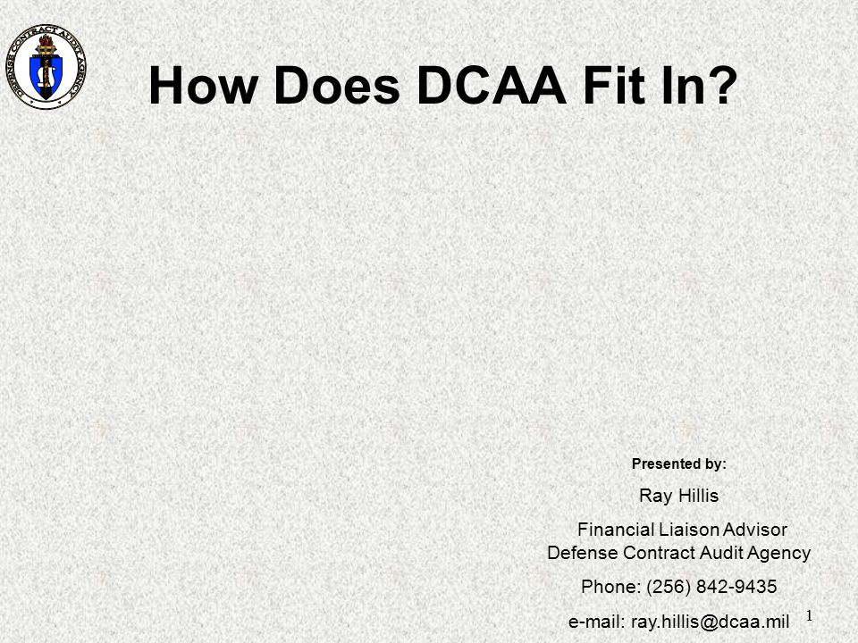 How Does DCAA Fit In Ray Hillis
