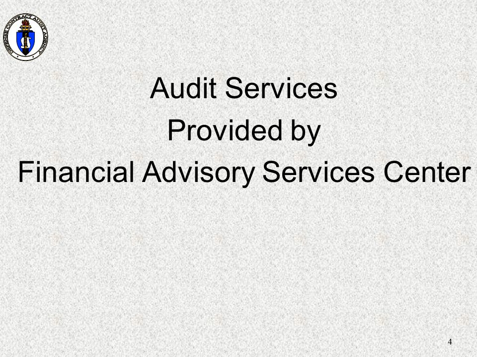 Financial Advisory Services Center