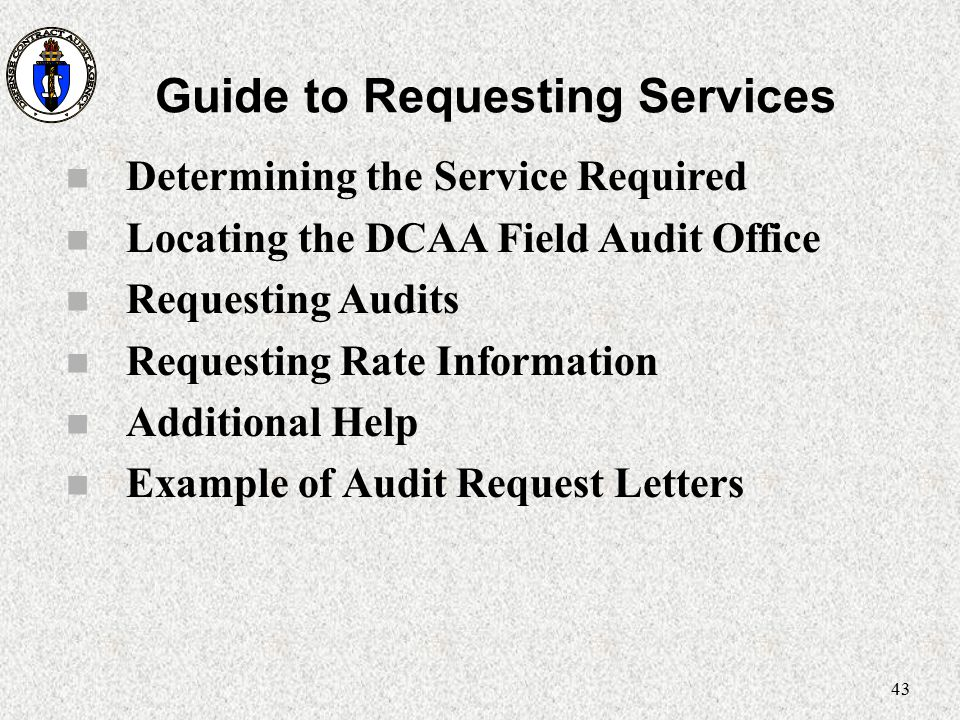 Guide to Requesting Services