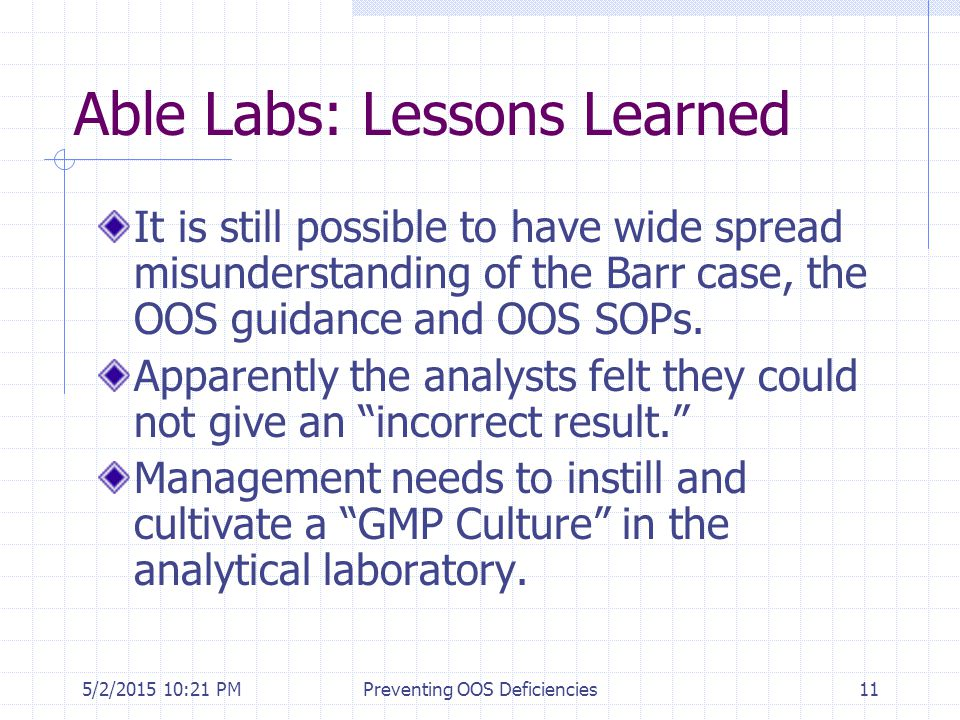 Able Labs: Lessons Learned