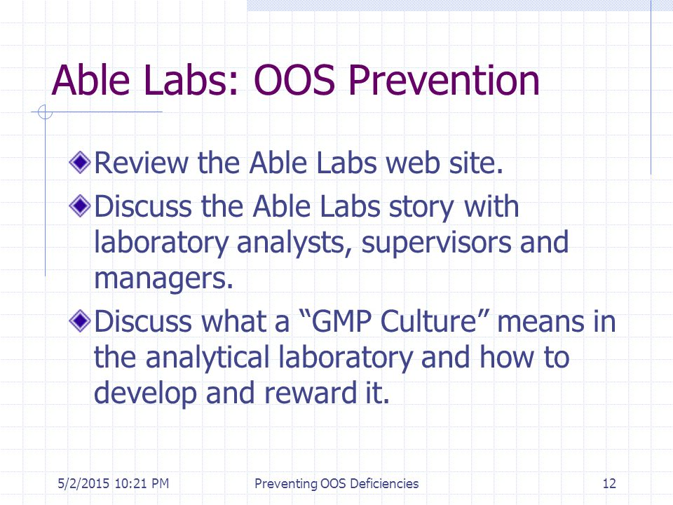 Able Labs: OOS Prevention