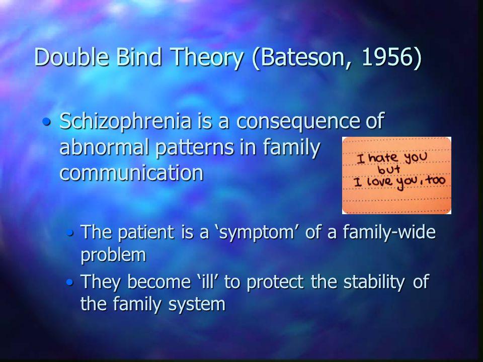 Double Bind Theory (Bateson, 1956)