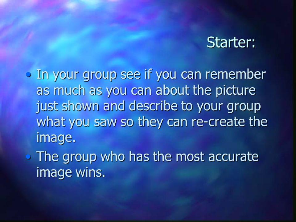 Starter: