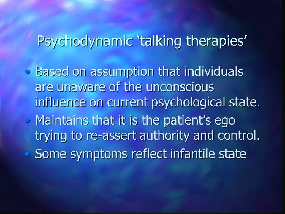 Psychodynamic 'talking therapies'