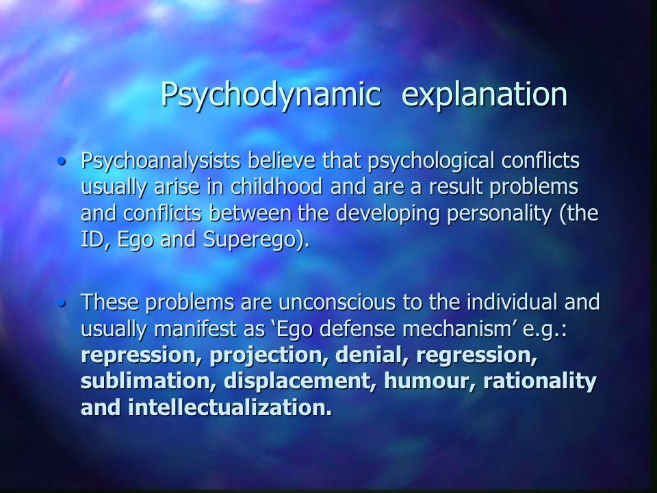 Psychodynamic explanation