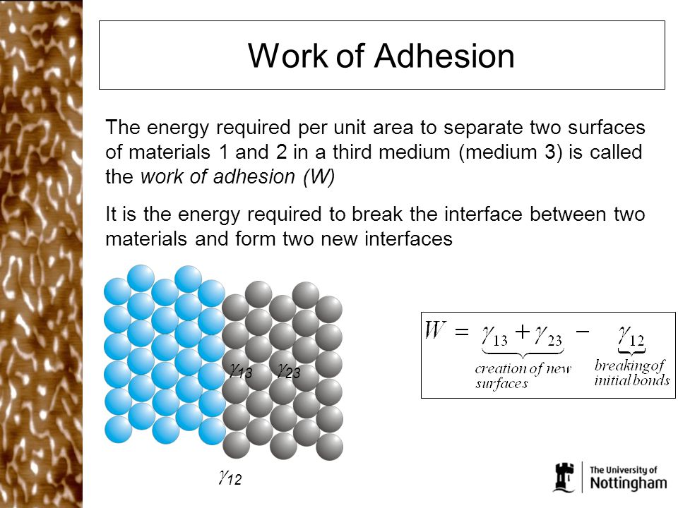 Work of Adhesion
