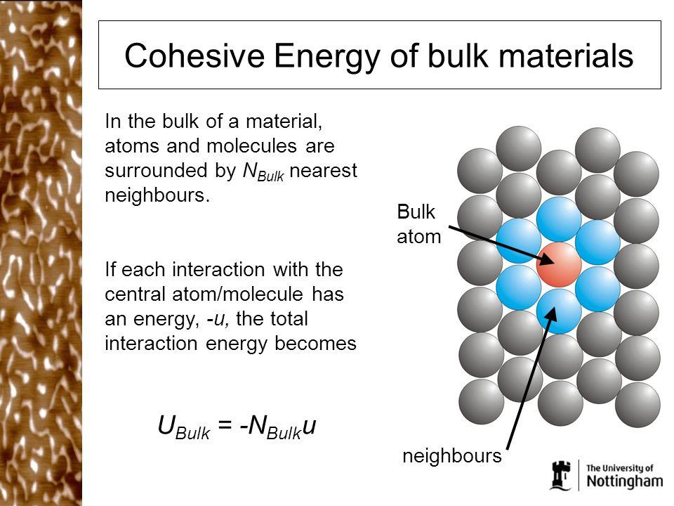 Cohesive Energy of bulk materials