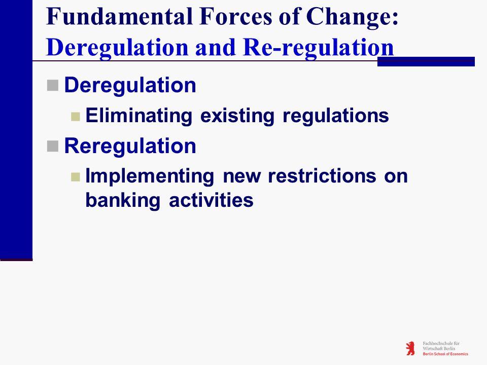 Fundamental Forces of Change: Deregulation and Re-regulation