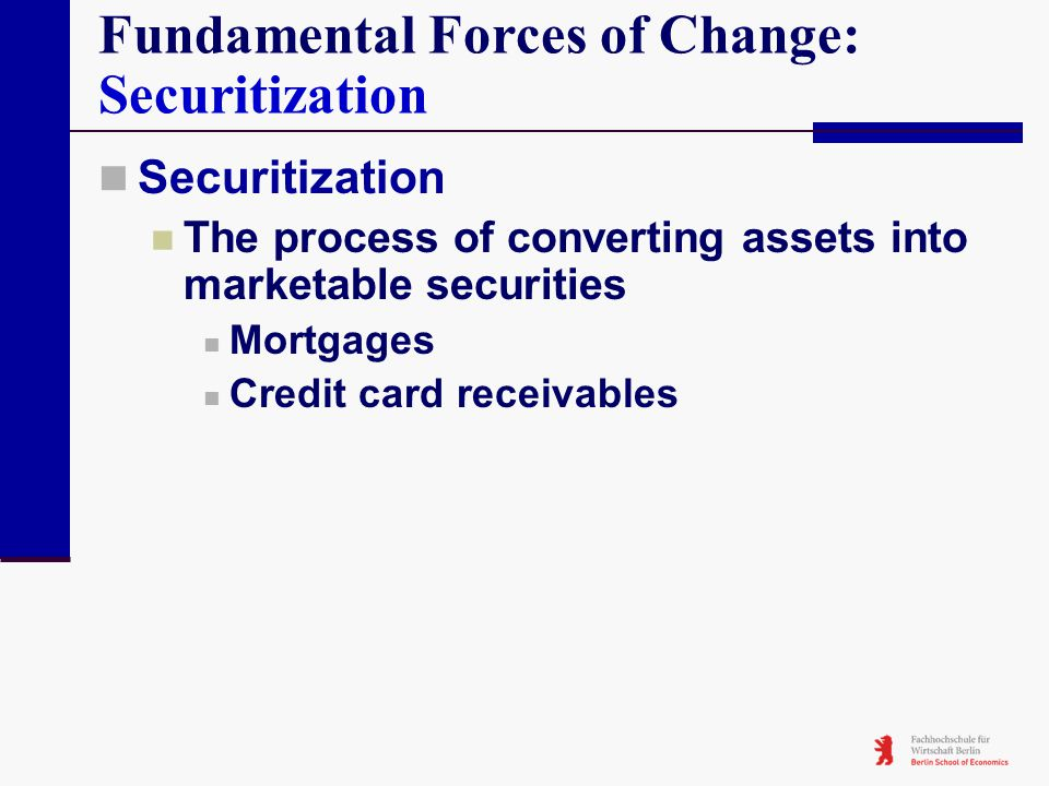 Fundamental Forces of Change: Securitization