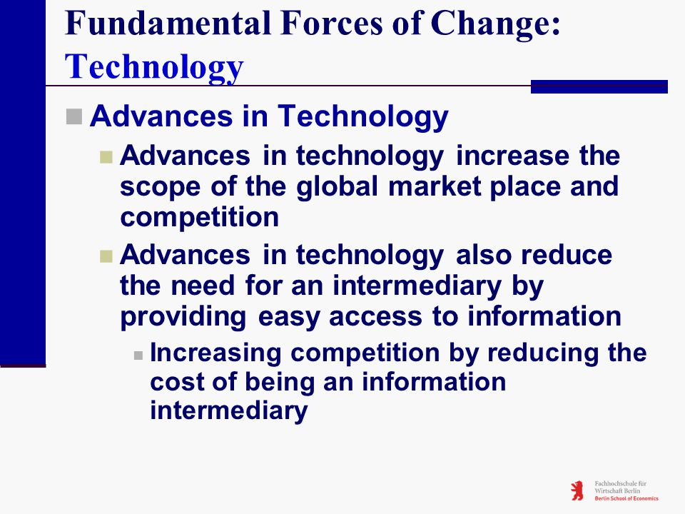 fundamental changes of marketing on the internet information technology essay The impact of electronic business on the organisation  internet technology fully integrated  technology also changes what is.