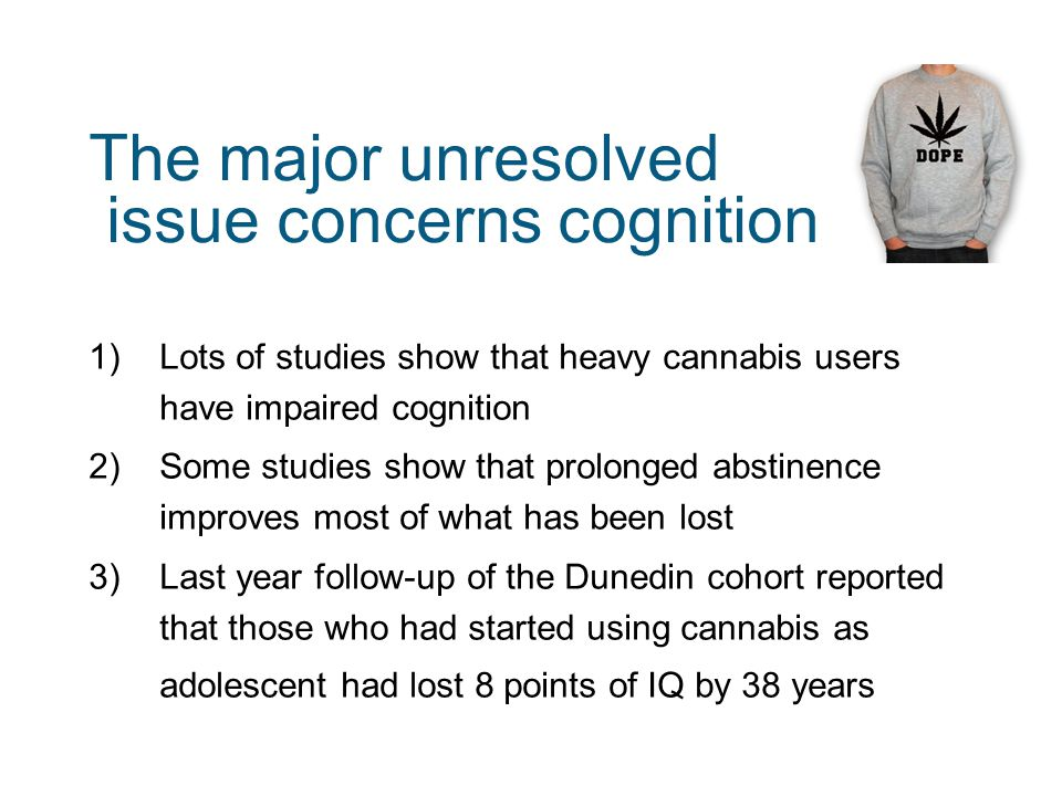 The major unresolved issue concerns cognition