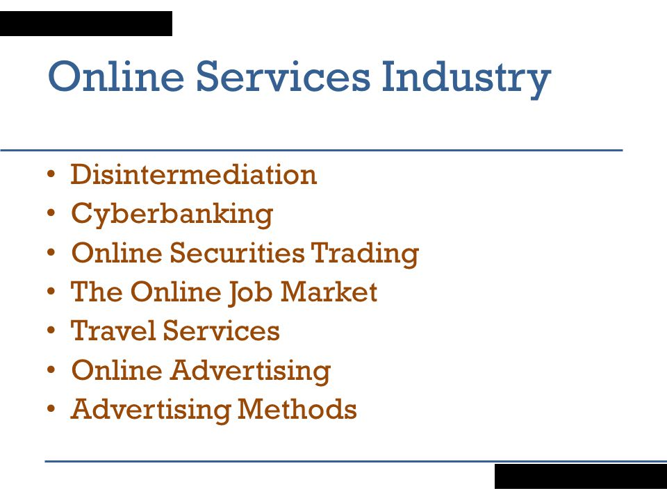 Online Services Industry