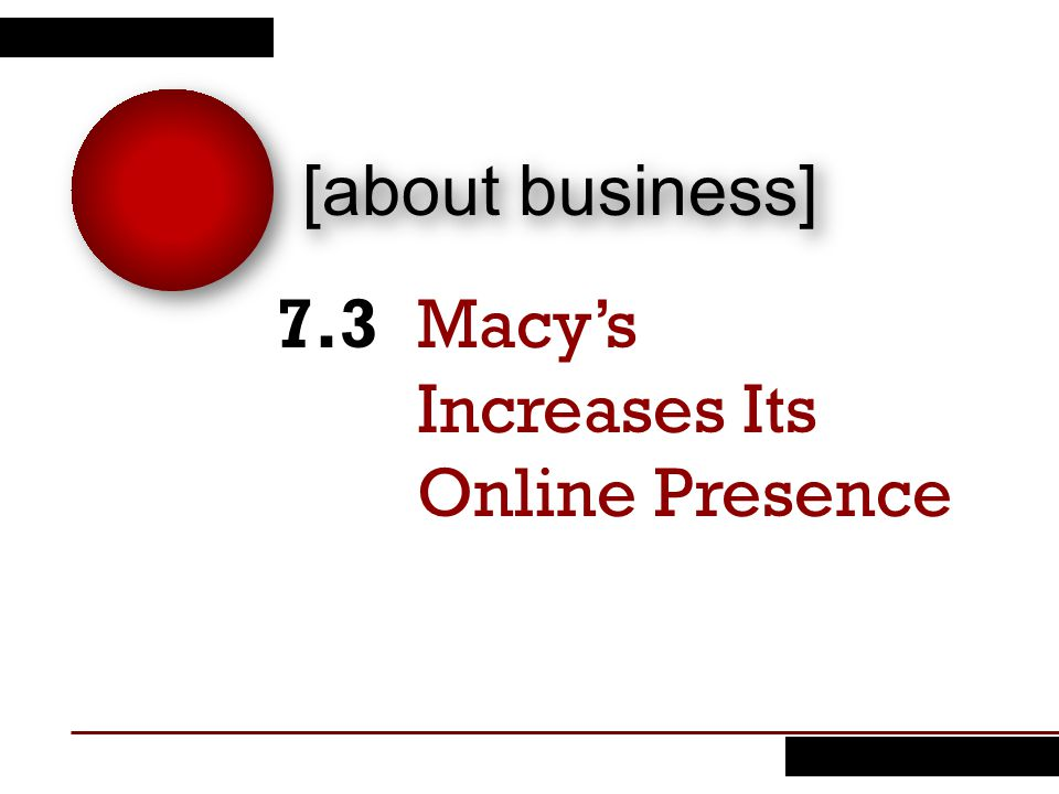 Macy's Increases Its Online Presence