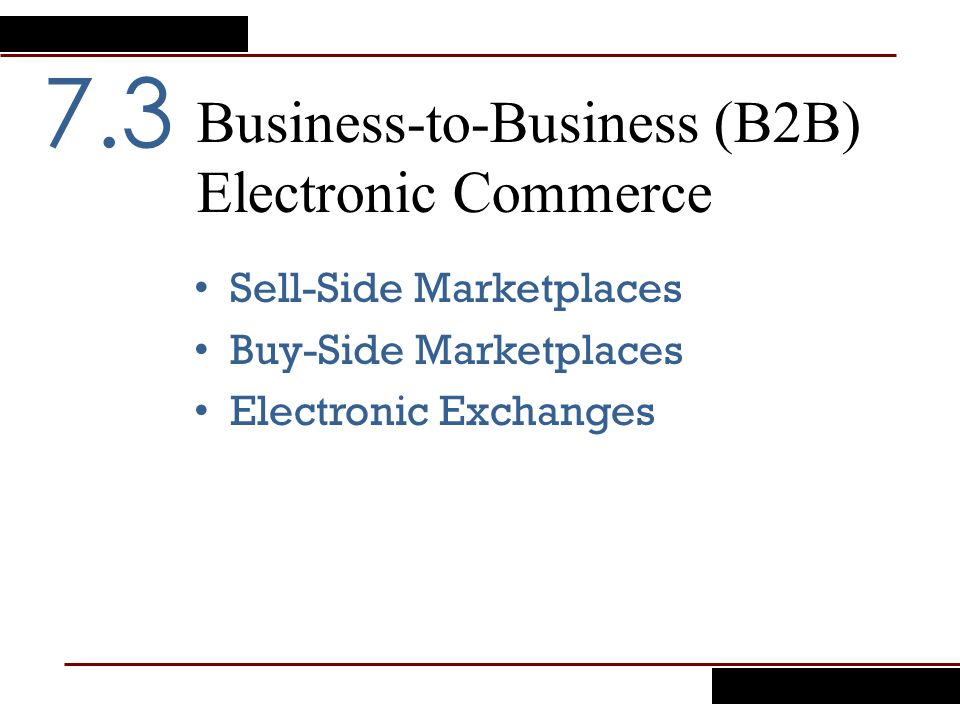 Business-to-Business (B2B) Electronic Commerce