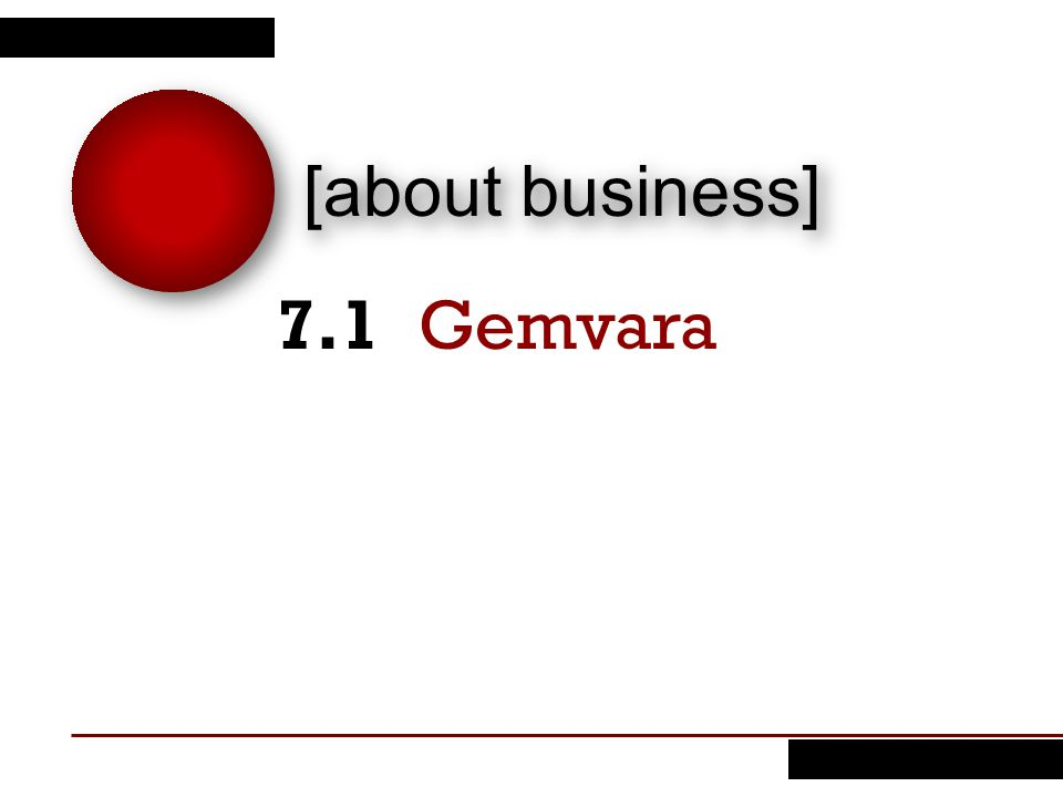 7.1 Gemvara