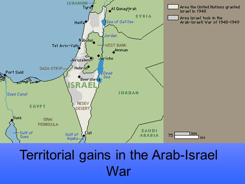 Territorial gains in the Arab-Israel War