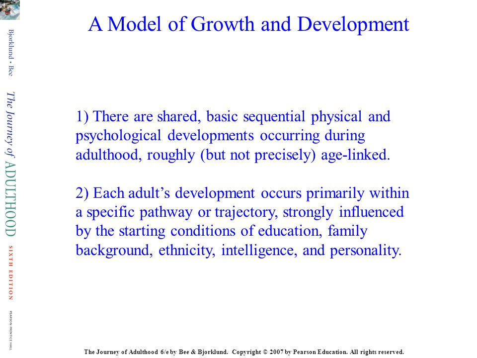 A Model of Growth and Development