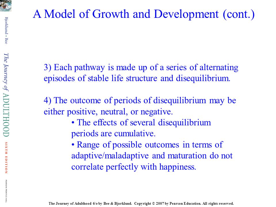 A Model of Growth and Development (cont.)
