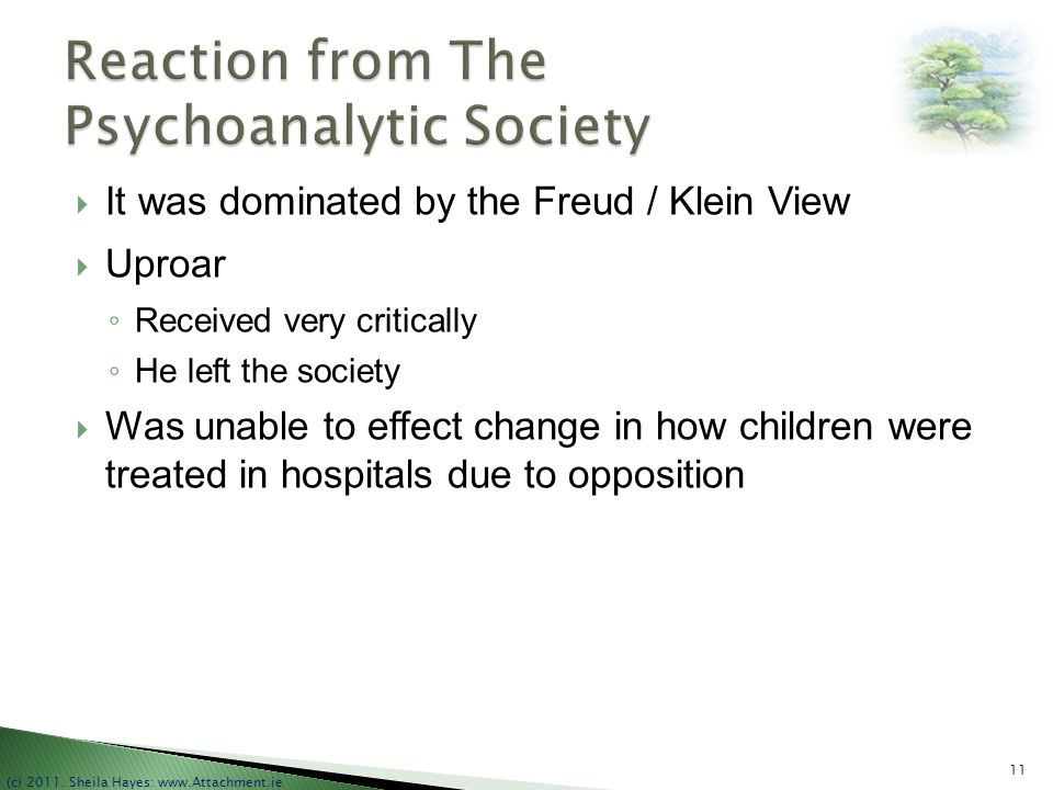 Reaction from The Psychoanalytic Society