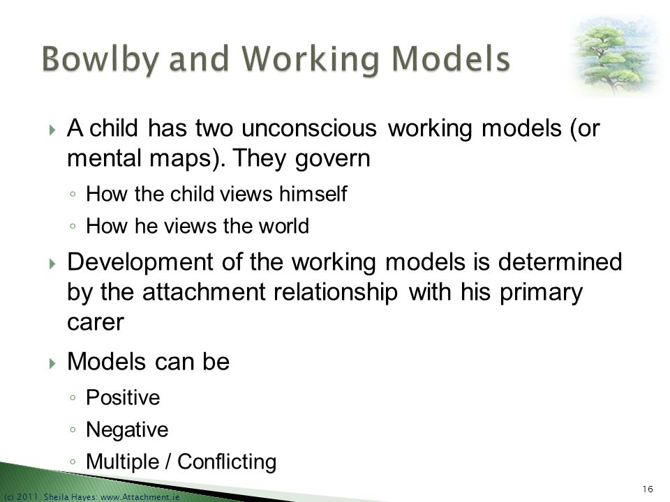 Bowlby and Working Models