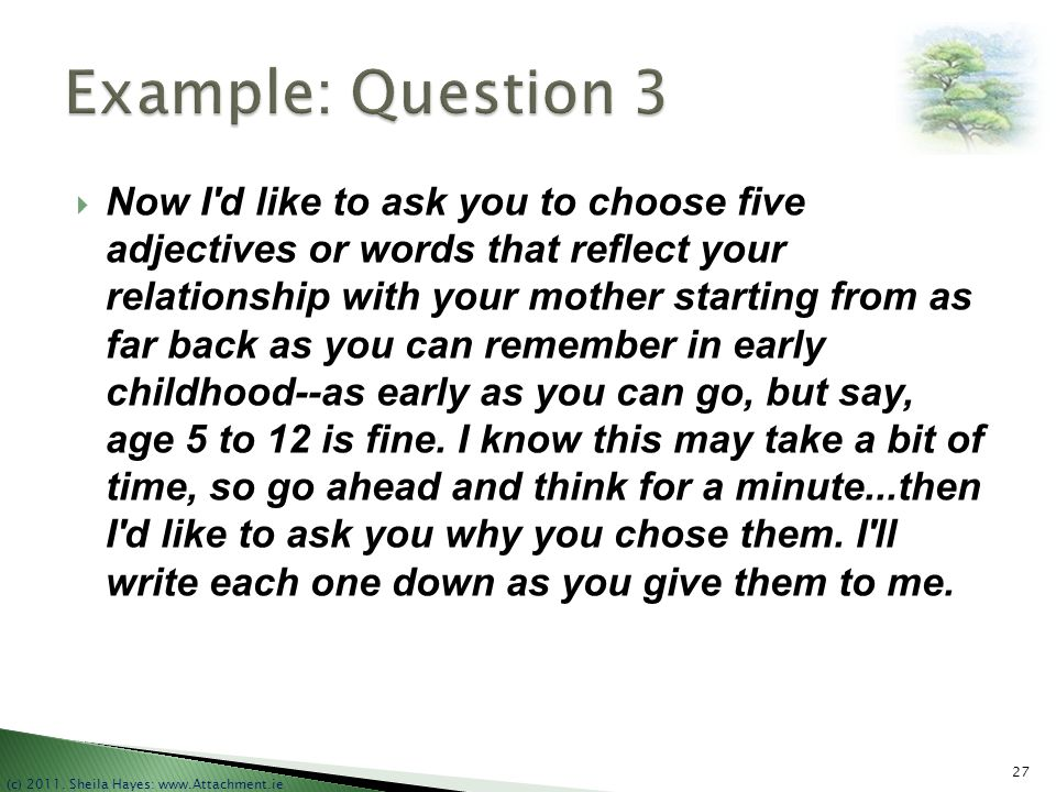 Example: Question 3