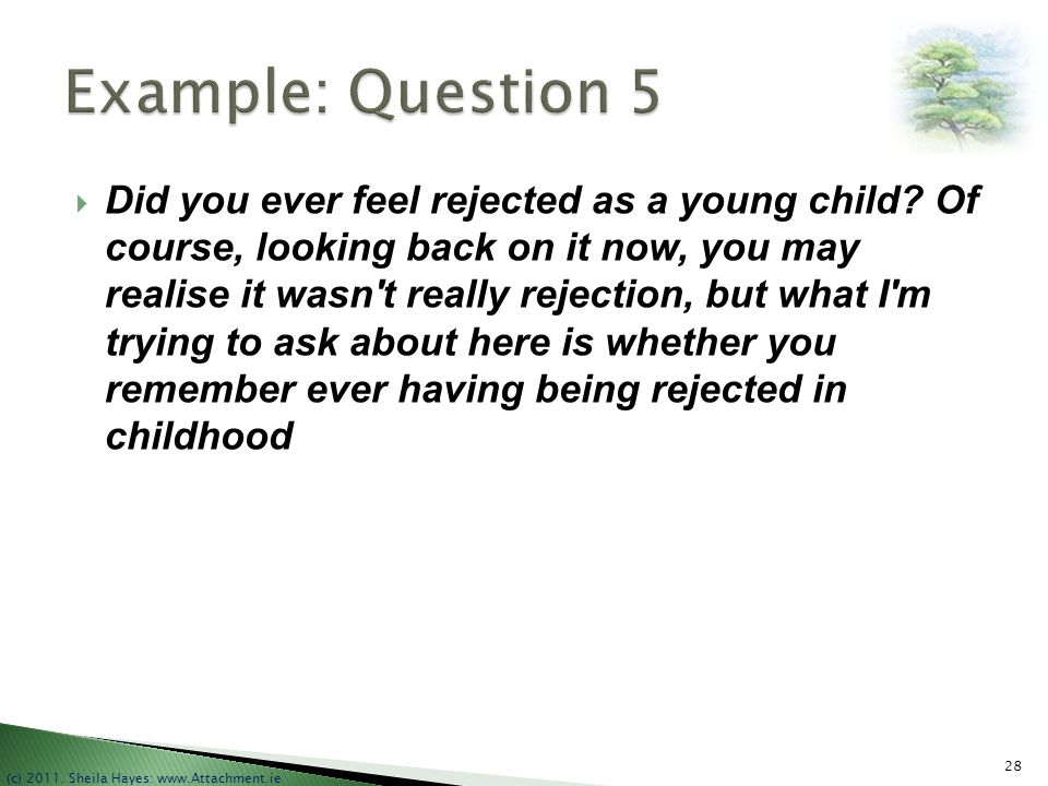 Example: Question 5