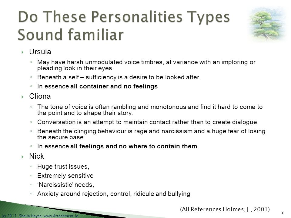 Do These Personalities Types Sound familiar
