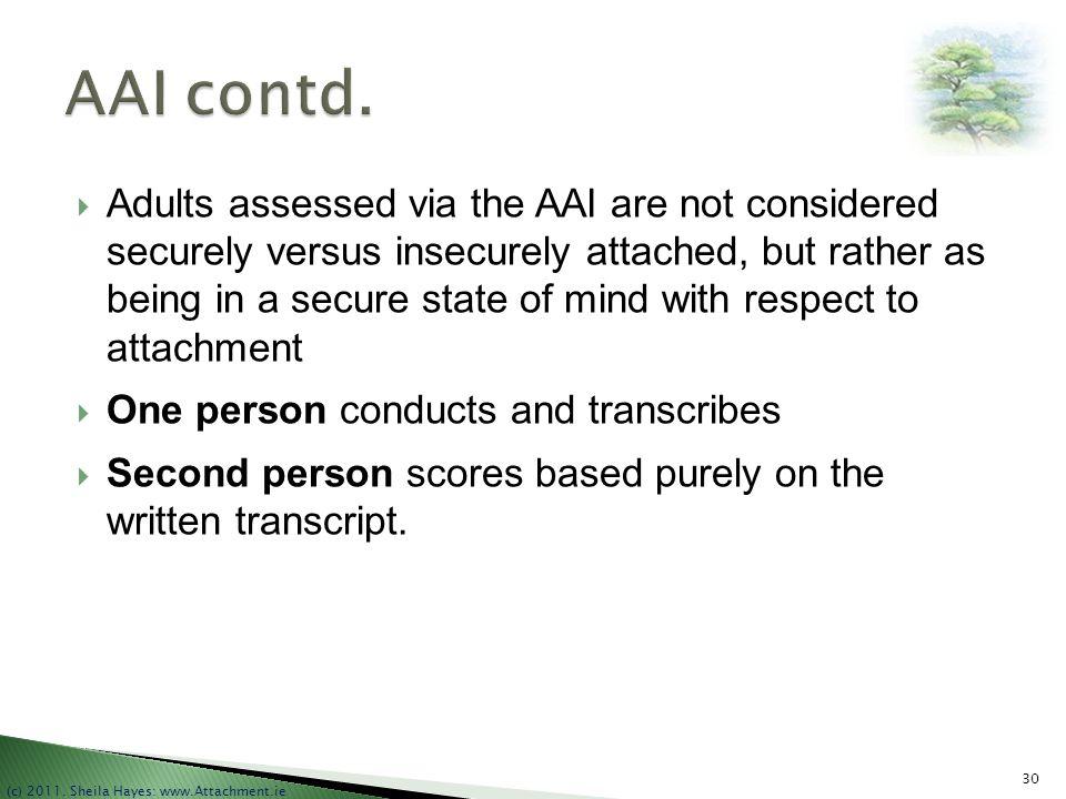 AAI contd.