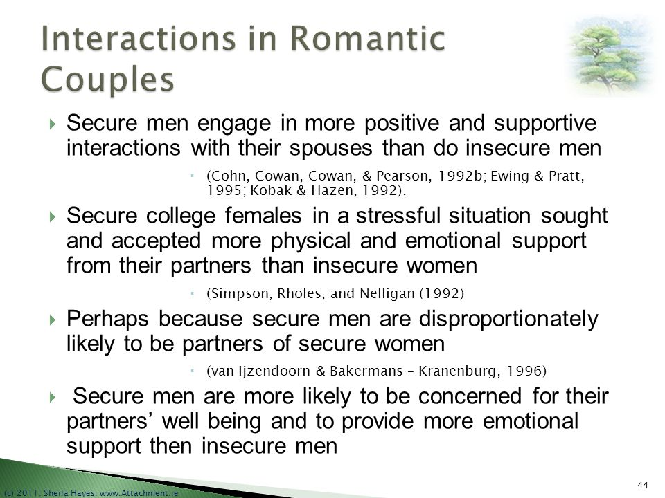 Interactions in Romantic Couples