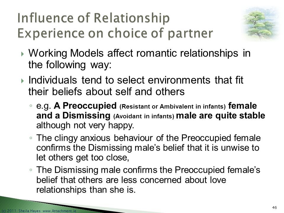 Influence of Relationship Experience on choice of partner