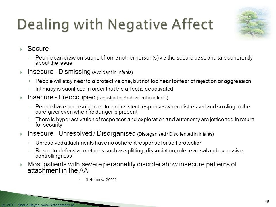 Dealing with Negative Affect