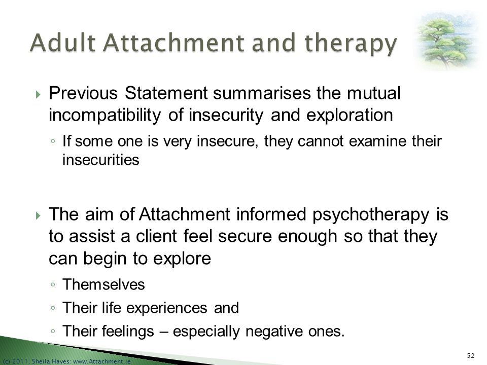 Adult Attachment and therapy