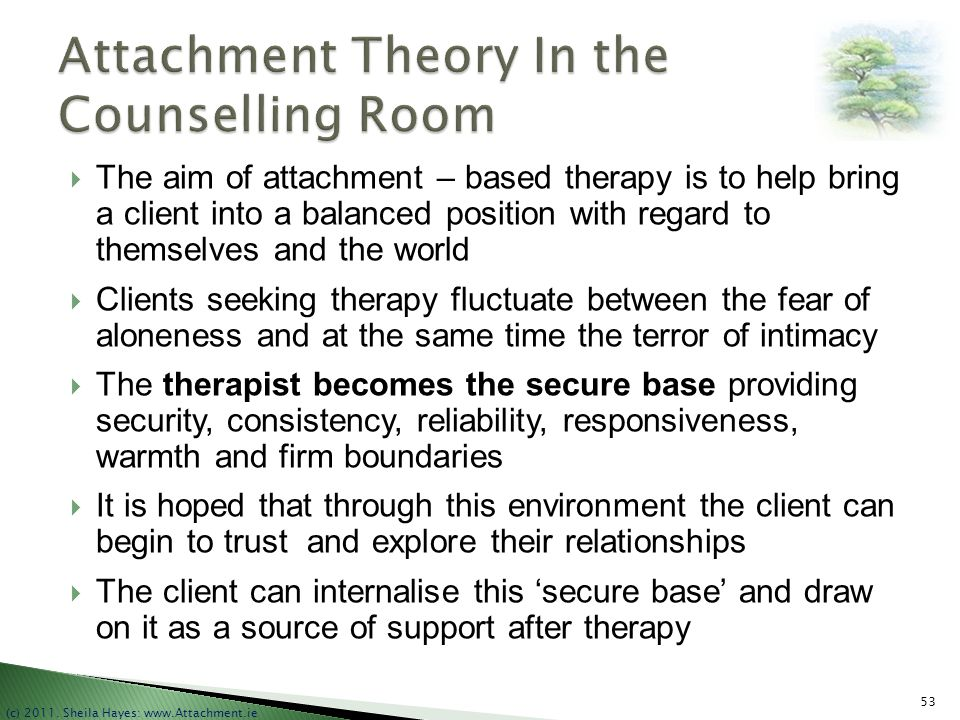 Attachment Theory In the Counselling Room