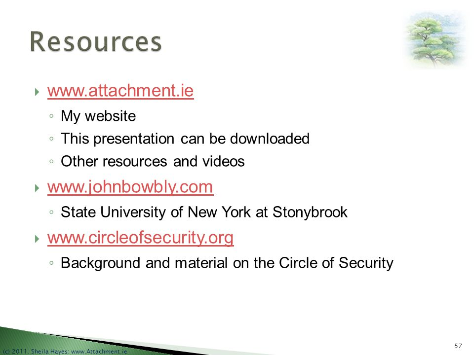 Resources www.attachment.ie www.johnbowbly.com