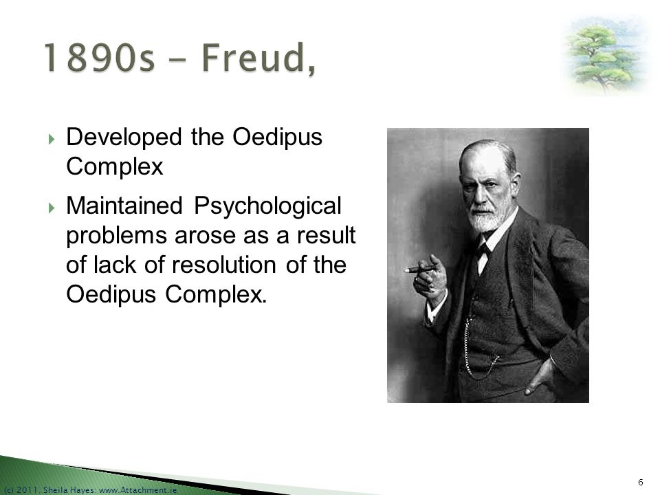 1890s - Freud, Developed the Oedipus Complex