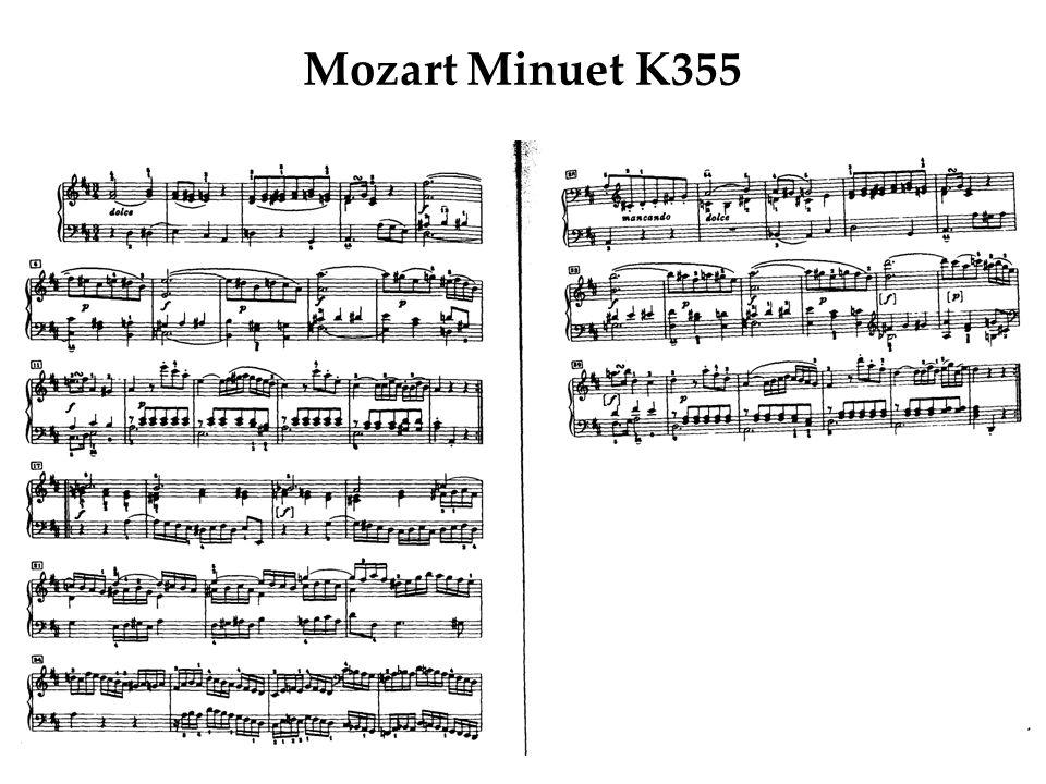Mozart Minuet K355