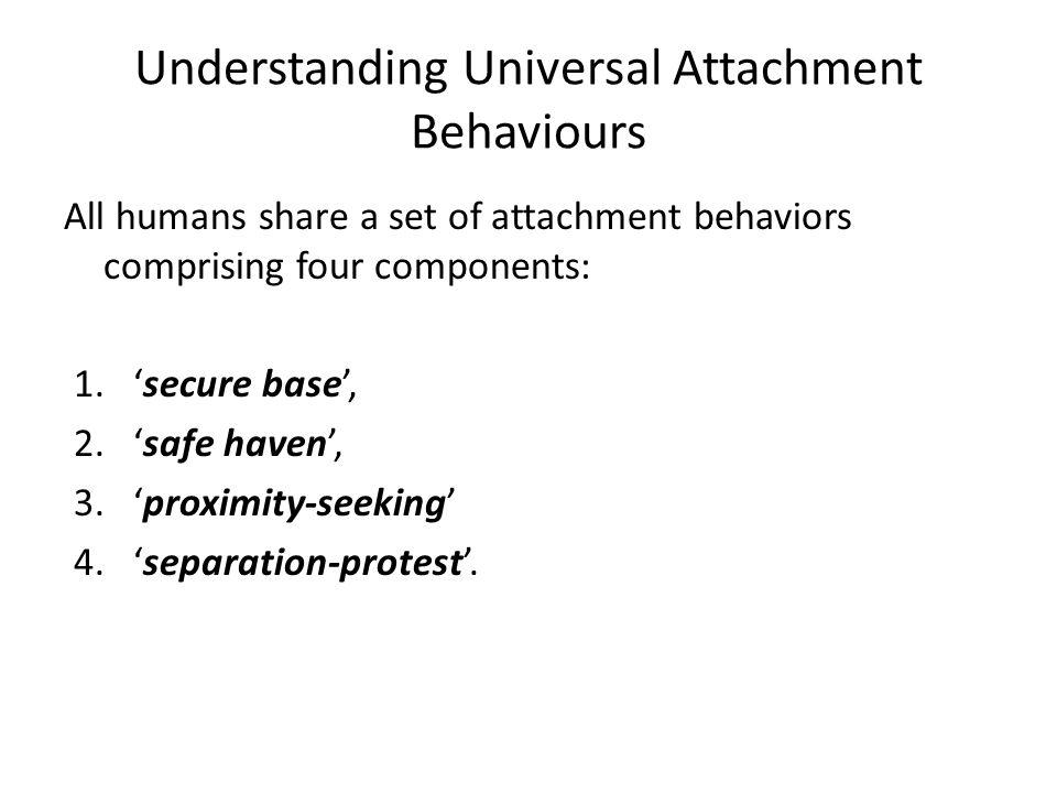 Understanding Universal Attachment Behaviours