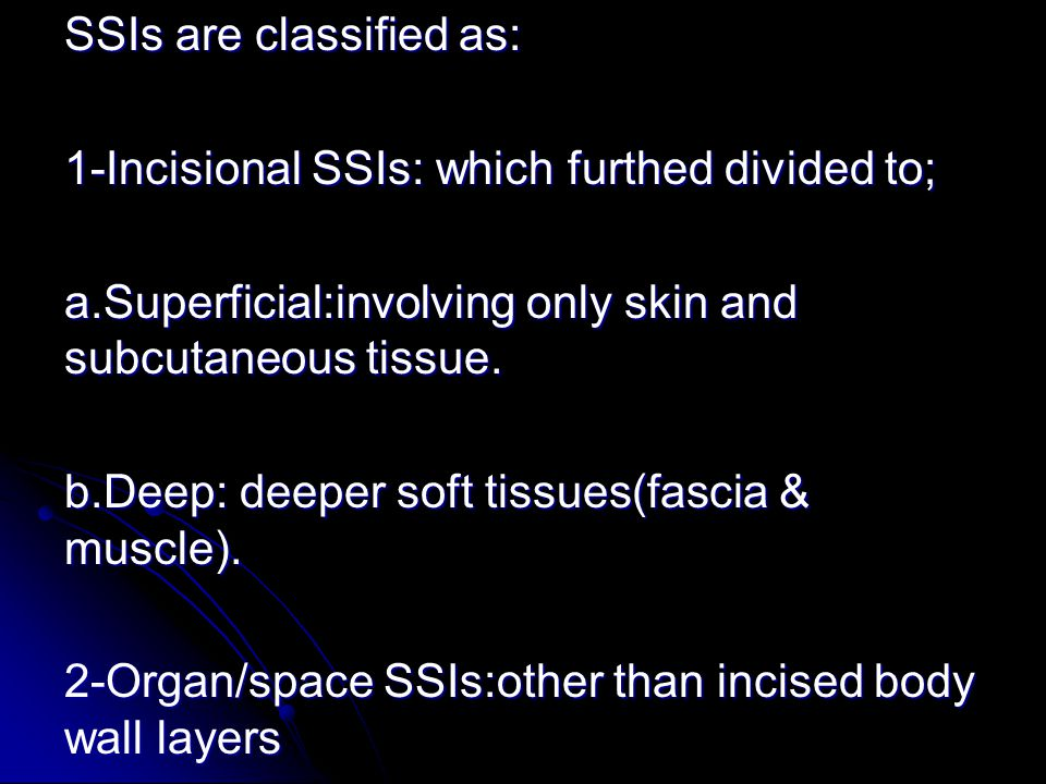SSIs are classified as: