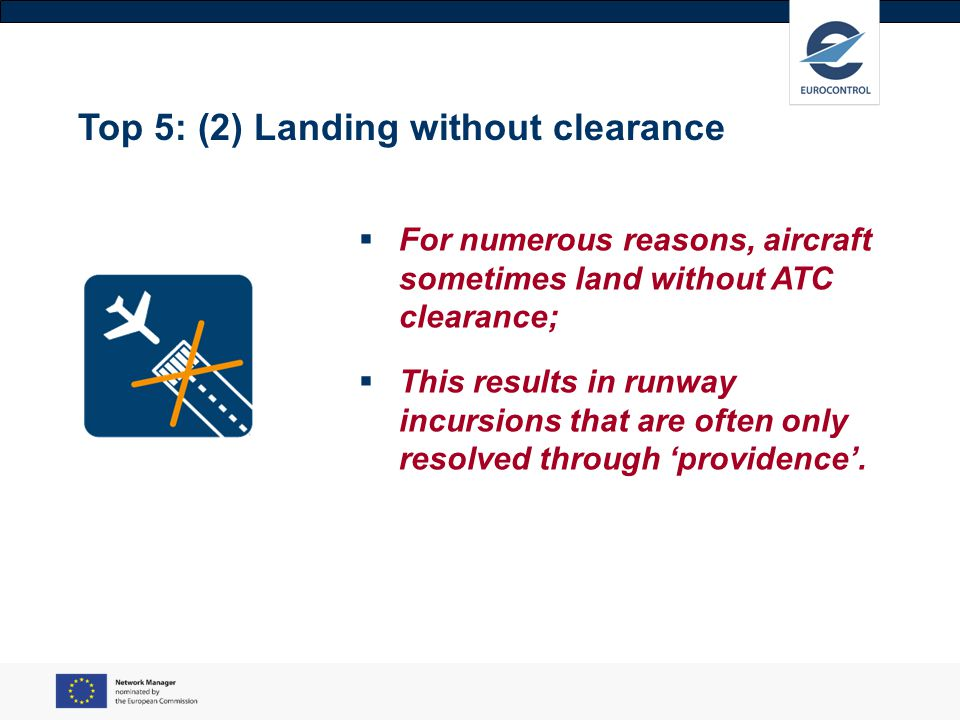 Top 5: (2) Landing without clearance