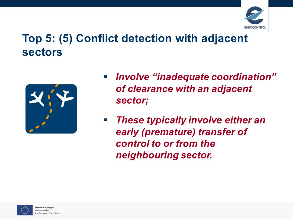 Top 5: (5) Conflict detection with adjacent sectors