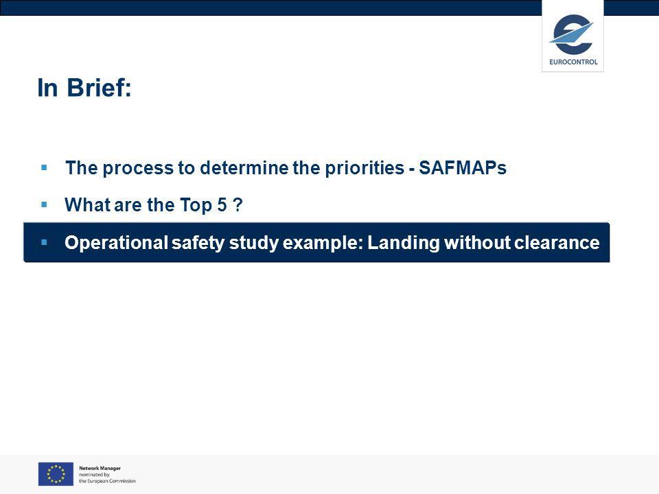 In Brief: The process to determine the priorities - SAFMAPs