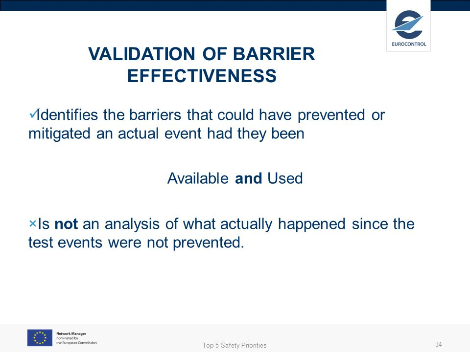 VALIDATION OF BARRIER EFFECTIVENESS